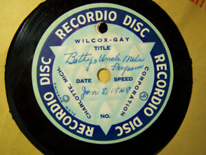 LOCAL RECORDIO AND AUDIODISC DISCS FROM 1940'S, 50'S CJCH 1949