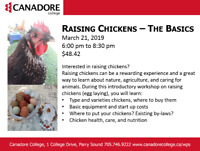 Raising Chickens, Parry Sound, Canadore College