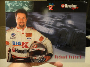 "Autographed Michael Andretti 8.5 x11"" Colour Picture Card"