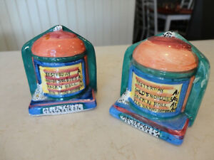 Vintage 1970's Pottery Salt & Pepper Shakers in a Juke Box Theme