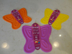 Silicone Butterfly Pot Holder / Pot Mats Heat resistant $3.50/ea Kitchener / Waterloo Kitchener Area image 1