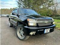 FRESH IMPORT 2004 LHD CHEVROLET AVALANCHE5.3 V8 DOUBLE CREW CAB PICKUP AUTO