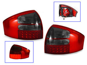 DEPO 1998-2004 AUDI A6 / S6 / RS6 C5 CHASSIS 4D SEDAN LED RED/SMOKE TAIL LIGHTS