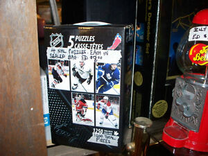 4 NHL Puzzles 1000 Pieces in 4 Factory Sealed bags