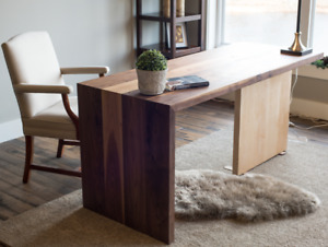 Solid Walnut and Maple desk