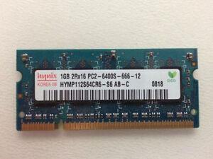 2GB 2x 1GB RAM PC 800 Mhz DDR2 PC2-6400 800Mhz 200 pin SoDIMM