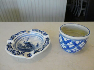 Vintage Holland handpainted Ashtray & Cup from the 60's -$6/Both Kitchener / Waterloo Kitchener Area image 1