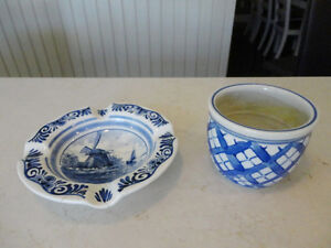 Vintage Holland handpainted Ashtray & Cup from the 60's -$6/Both