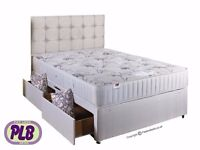 BRAND NEW DOUBLE/KING SIZE DIVAN BED BASE WITH FULL ORTHOPEDIC MATTRESS £119