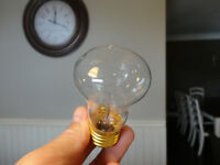 I have 72 of these to sell -New 40 watt 120v Mushroom Type Bulbs