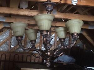 Lustre en bronze 5 lumières