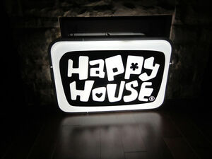 ONE OF A KIND Happy House Dual Sided Fluorescent Hanging Sign Kitchener / Waterloo Kitchener Area image 7