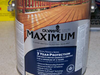 OLYMPIC MAXIMUM CLEAR WATERPROOFING SEALANT (2 Cans of 3.78L)
