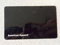 AMERICAN APPAREL GIFT CARD - $78 Value @ Discount Price