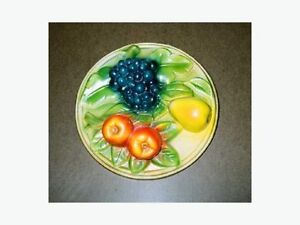 CHALKWARE WALL FRUIT PLAQUE