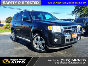 2009 Ford Escape Limited | 4WD | SAFETY & E-TESTED