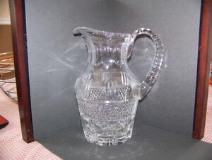 Crystal  items - water pitcher/ milk pitcher / candy dish