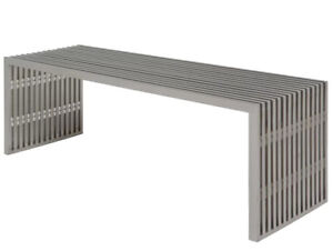 Modern metal bench coffee table