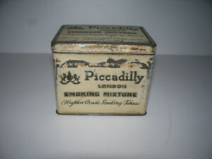 Piccadilly London Smoking Mixture Tin with Hinged Lid