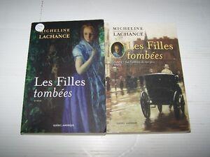 Les filles tombées - 2 tomes de Micheline Lachance