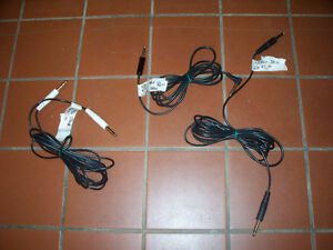"""1/4"""" Mono or Stereo Instrument Cables. Mono $6. Stereo $5."""