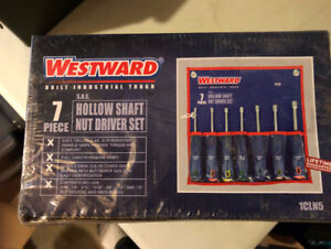 Westward 7 Piece Hollow Shaft Nut Driver Set