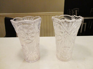 Set of 2 Plastic Clear Acrylic Vases in perfect Shape -No cracks