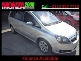 VAUXHALL ZAFIRA 1.6i 16v BREEZE PLUS NIL DEPOSIT FINANCE WARRANTY SAT NAV DVD