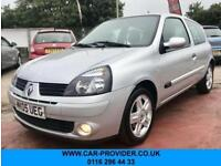 2005 RENAULT CLIO EXTREME 1.1 SERVICE HISTORY LONG MOT 3DR 75 BHP
