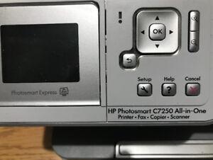 HP Photosmart C7250 All-In-One Printer-Fax-Copier-Scanner.