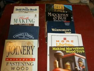 9 Woodworking Books. $2.00 each