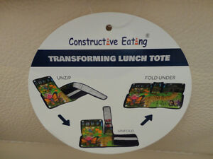 Boys Bulldozer Constructive Eating transforming Lunch Tote - NEW Kitchener / Waterloo Kitchener Area image 2