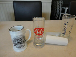 Selling 3 Vintage Shot Glasses -Lulu's bar, Heidelberg & Ryerson