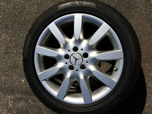 18IN BENZ WHEELS WITH WINTER PIRELLI TIRES