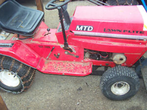 mtd lawn tractor with snowblower