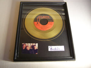 Neat Xmas Gift! Framed Gold 45rpm Record/Pic/Autograph! Genesis!