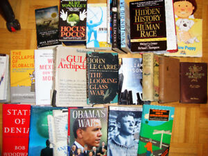 30 Books - Political Science, Cooking, Sci Fi, History