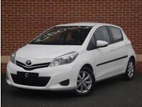 2013 13 Toyota Yaris 1.33 VVT-i TR 5dr (White, Petrol)
