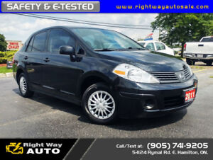 2011 Nissan Versa 1.6S | LOW KMS | NEW TIRES | SAFETY & E-TESTED