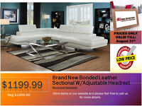 ◆2 PCS Bonded Leather Sectional on Sale@New Direction Home