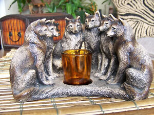 Windstone Editions Wolf Council Candle Lamp (neg price)