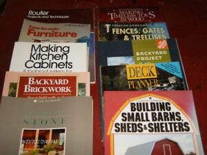 Woodworking  & other books, 10 in all. $2.00 each