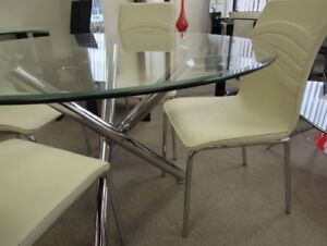 Table only or Kitchen 5pc SET,-1 table+4 chairs,new in  box