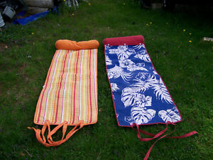 Beach Mats with Pillows