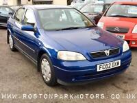 2002 VAUXHALL ASTRA 1.6i Club 8v just 72k new MOT