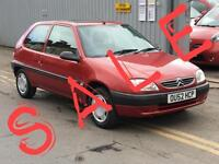2002 CITROEN SAXO 1.1i Forte just 46k new clutch and cambelt