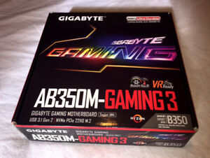 GIGABYTE AB350M-GAMING 3 AMD AM4 mATX Motherboard