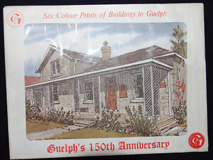 Set of 6 Colour Prints of Historic Guelph Sites Kitchener / Waterloo Kitchener Area image 1