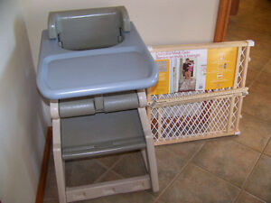 HIGHCHAIR &GATE FOR SALE