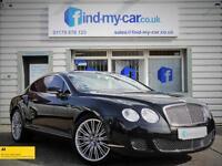 2009 09 Bentley Continental 6.0 W12 600 BHP Auto GT Speed Diamond Black